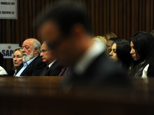 This is the first time both Barry and Reeva Steenkamp attend proceedings together. PHOTO: Werner Beukes/SAPA/Pool
