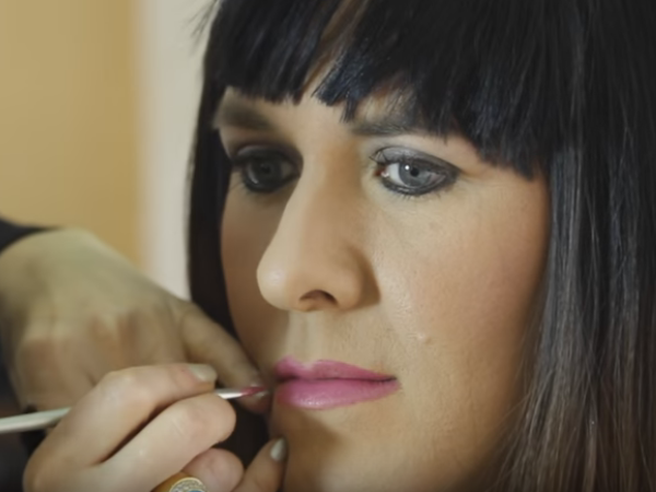 With the help of make-up, Sy transformed into Simone. PHOTO: YouTube
