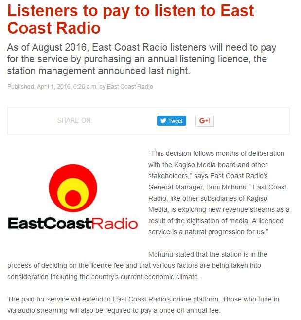 east coast radio