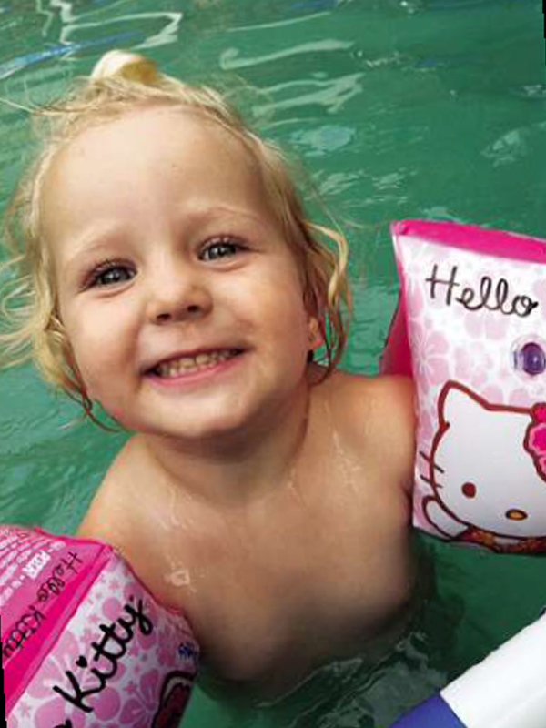 Pippie was a carefree toddler before the accident. PHOTO: Supplied