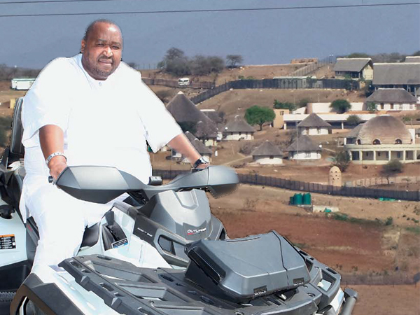The president's Nkandla complex, around which his nephew Khulubuse Zuma zips about on his quad bike.