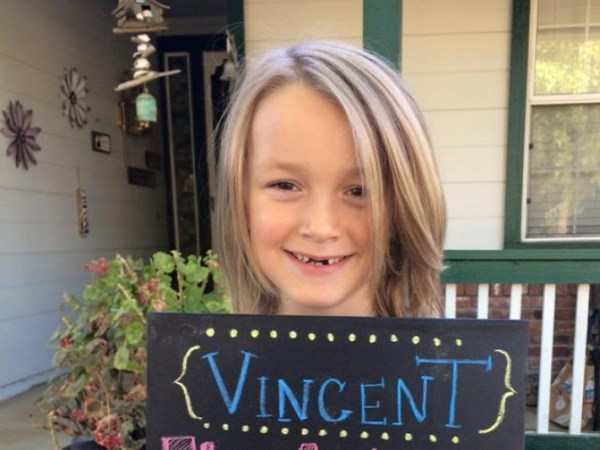 The young boy has donated almost thirteen inches of hair. PHOTO: GoFundMe
