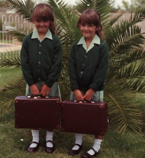 TWINS First day at school