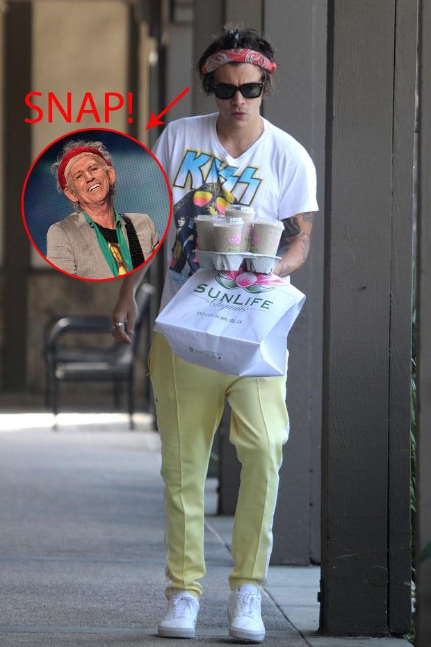 Harry Styles grabs a breakfast takeaway