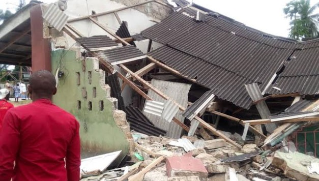 Catholic church building Collapses In Delta