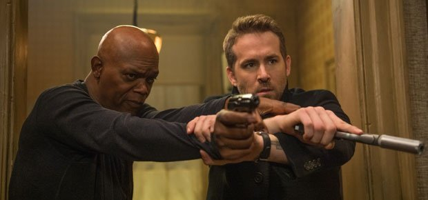 Samuel L. Jackson and Ryan Reynolds in The Hitman's Bodyguard. (Times Media Films)
