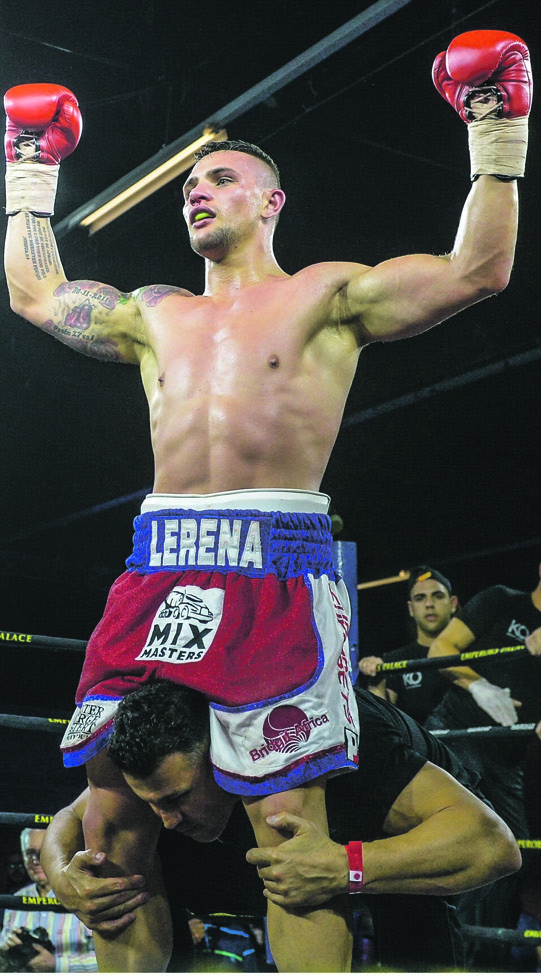 Victorious: Kevin Lerena celebrates one of his wins. Picture: Sydney Seshibedi / Gallo Images