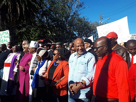 """Axed former deputy finance minister Mcebisi Jonas says he wanted to be part of the civil society march. """"The struggle continues,"""" he says. <br />"""