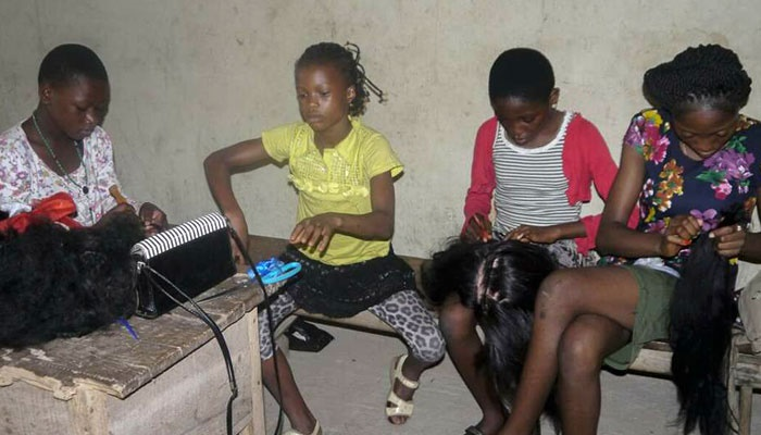 Children learning skills at holiday