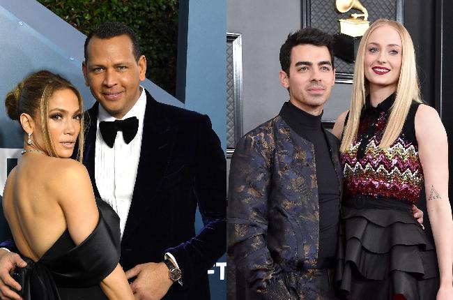 Jennifer Lopez, Alex Rodriguez, Joe Jonas and Sophie Turner (Photos: Getty Images/Gallo Images)