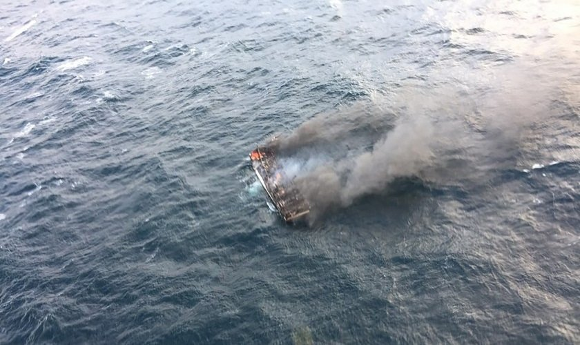 News24.com | One dead, 11 missing in South Korean fishing boat blaze