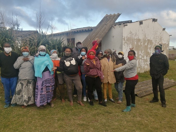 The cash-trapped owner of Western Meadows farm near St Albans, Port Elizabeth, has been accused of constructively evicting people living on her property.