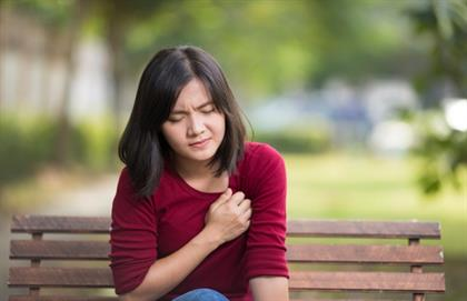 girl with chest pain