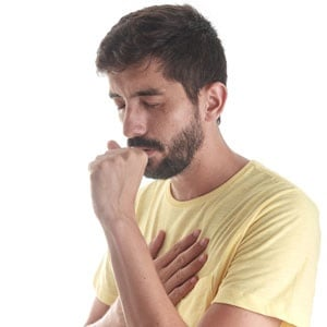 Man with cough at risk of asthma attack