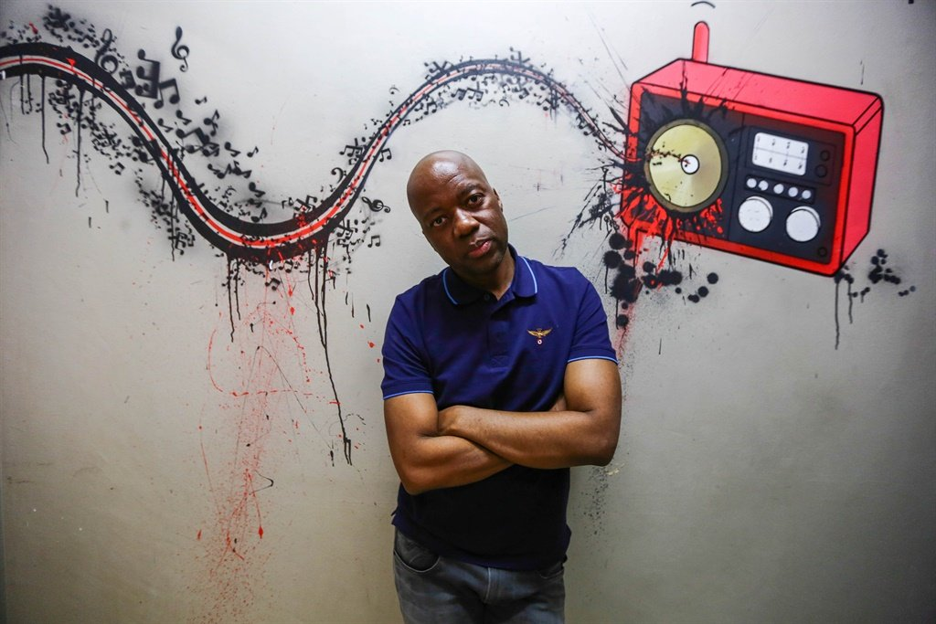 Radio presenter Xolani Gwala during an interview a