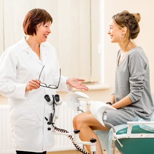 gynae and woman patient