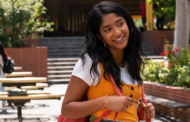 Maitreyi Ramakrishnan in 'Never Have I Ever.' (Lara Solanki/Netflix)