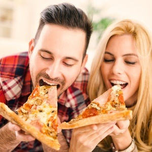Eating triggers the pleasure centres in our brains.