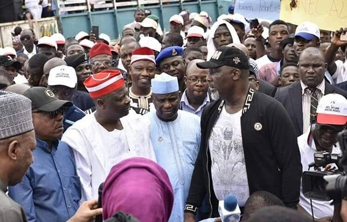 Members of the Peoples Democratic Party protesting