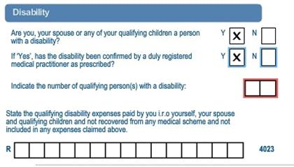 disability allowance tax credits