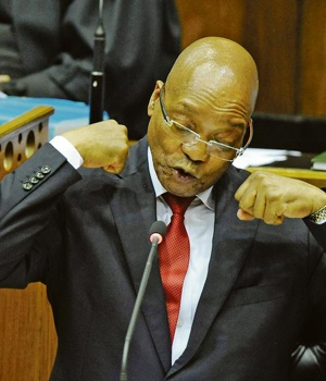 President Jacob Zuma giggles and gestures his way through Parliament this past week