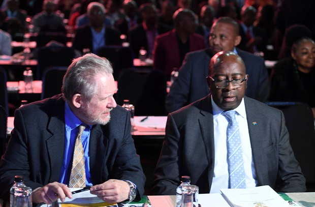 <p><strong>Rob Davies and Nhlanhla Nene sit next to each other during the Presidential Jobs Summit at the Gallagher Convention Centre in Midrand.   &nbsp;  </strong></p><p>During the opening of the two day summit, the government, labour and business, struck a deal that could see the creation of about 275 000 jobs a year. (Felix Dlangamandla, Gallo Images, Netwerk24, file)  </p>