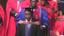 WATCH: Julius Malema gets his honours degree