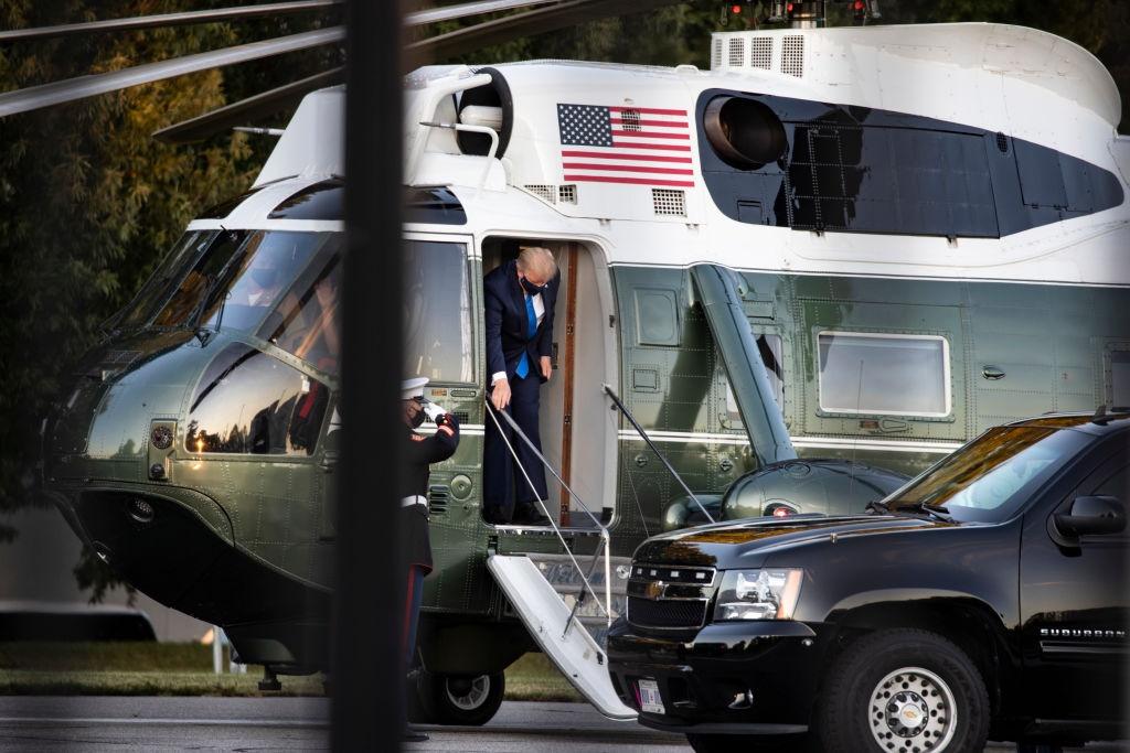 WASHINGTON, DC - OCTOBER 02: U.S. President Donald