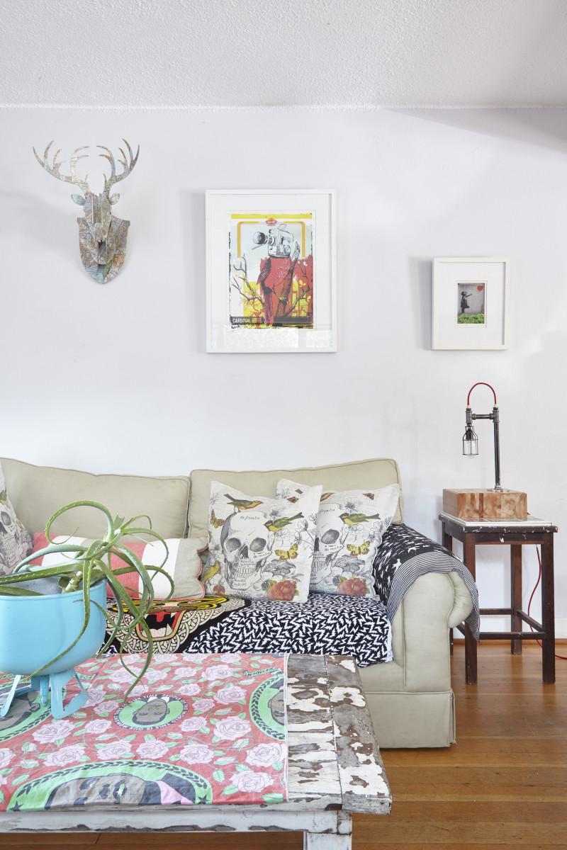 jane, durban, quirky,reader home, terrace, umbrella, colour, skull