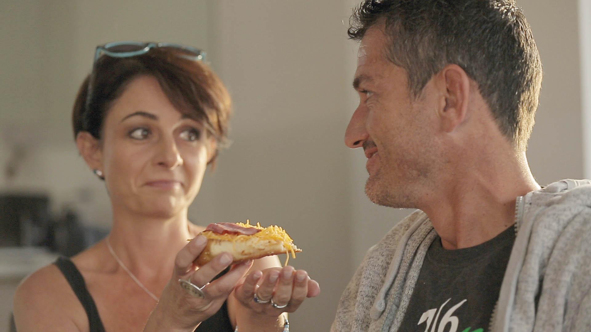 Odette en Joost tydens verfilming