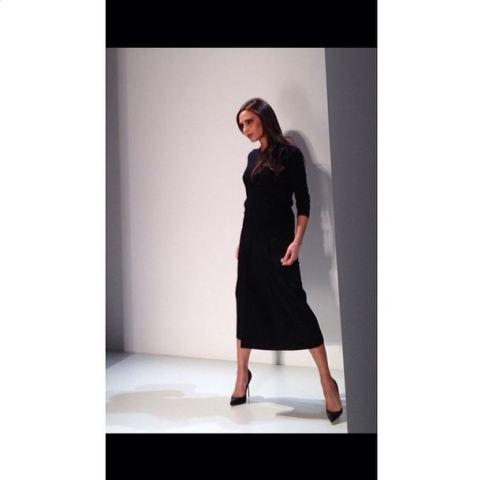 Victoria Beckham na haar klerevertoning by die New York modeweek. FOTO: Twitter