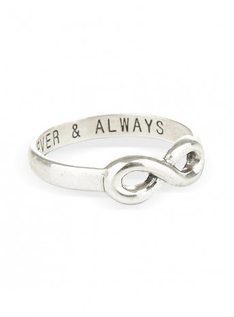 Ring With Infinity Charm Silver