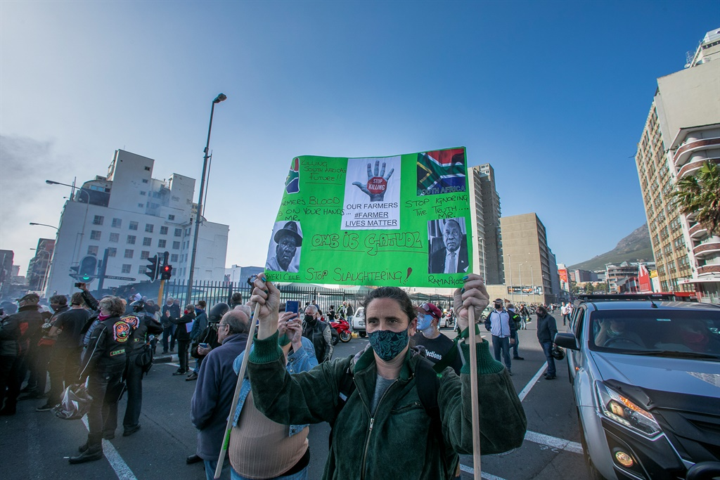 CAPE TOWN, SOUTH AFRICA - JULY 18: Bikers gather a