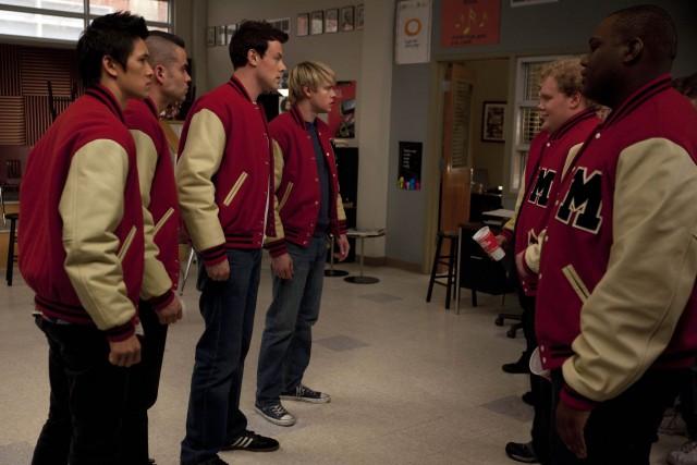 'n Toneel uit die TV-reeks Glee.