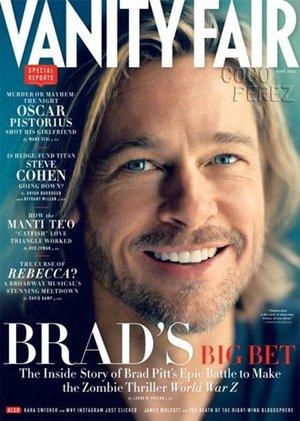 Brad Pitt op Vanity Fair se voorblad