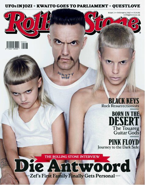 Die Antwoord op die voorblad van Rolling Stone in 2012