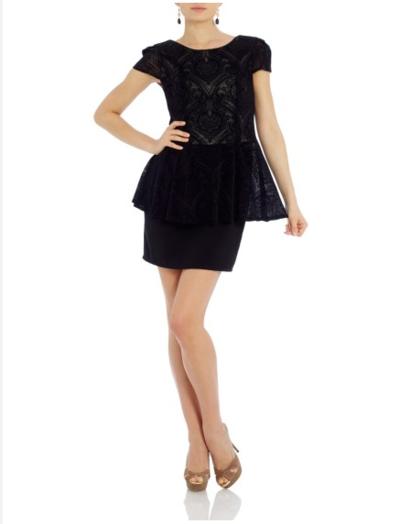 Minette Peplum Dress