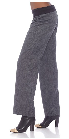 Smart Pants With Knit Waistband