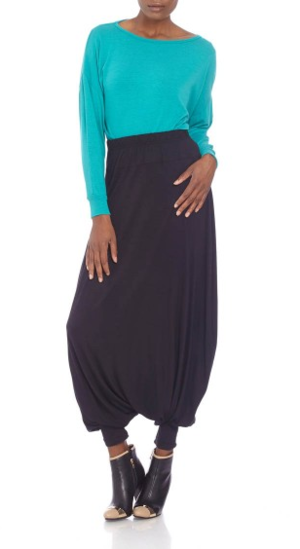 Harem Pants With Elasticated Cuff And Waist