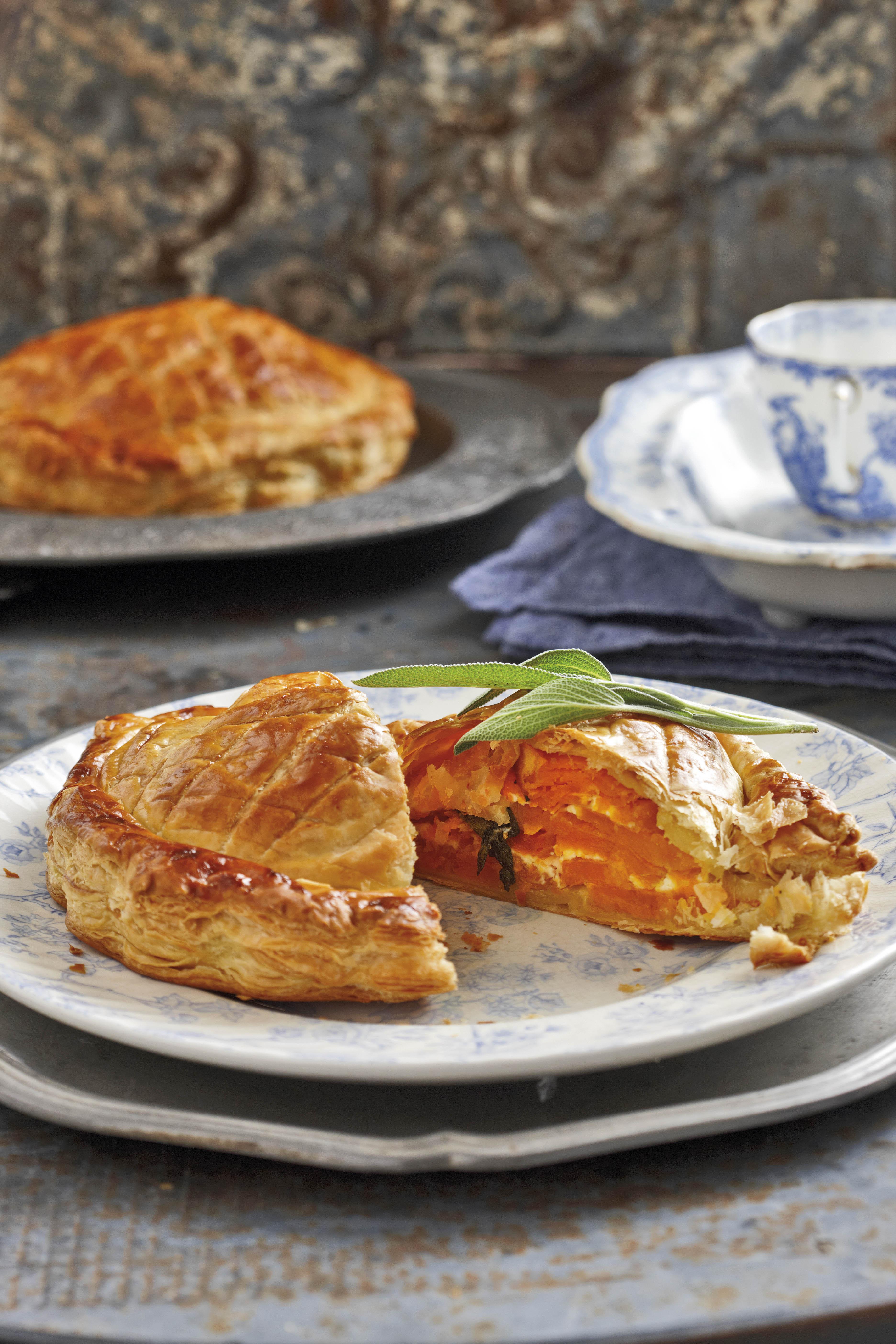 Butternut and feta pie