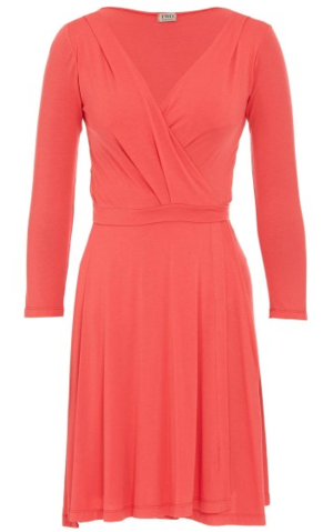 Wrap Dress With Three-quarter Sleeves