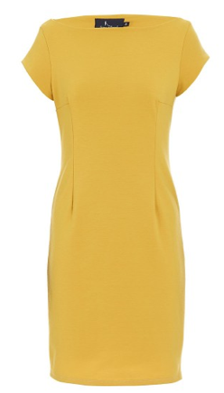 Shift Dress With Cap Sleeves