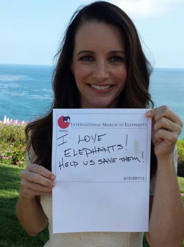 Kristin is baie in die buitelug, omdat sy 'n vegter vir die bewaring van olifante is, FOTO: Twitter