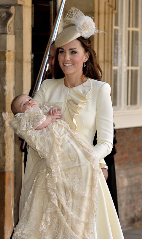 Kate en Prins George by sy doop in Oktober 2013 FOTO: Gallo Images / Getty Images