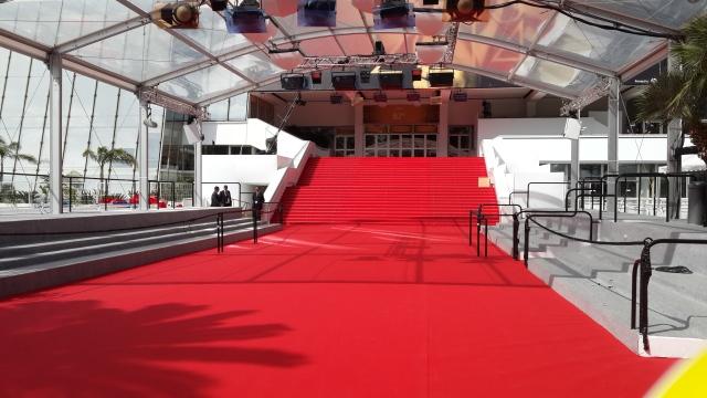 Die rooi tapyt by die legendariese Cannes-rolprentfees FOTO: verskaf