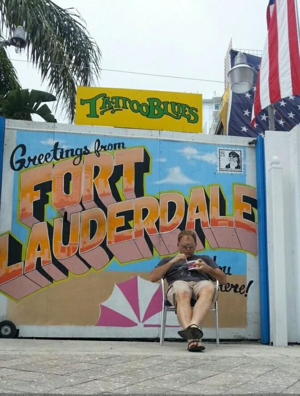 Steve span uit in Fort Lauderdale FOTO:  Facebook