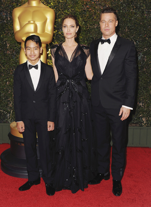 Maddox, Angelina en Brad  FOTO: Gallo Images / Getty Images