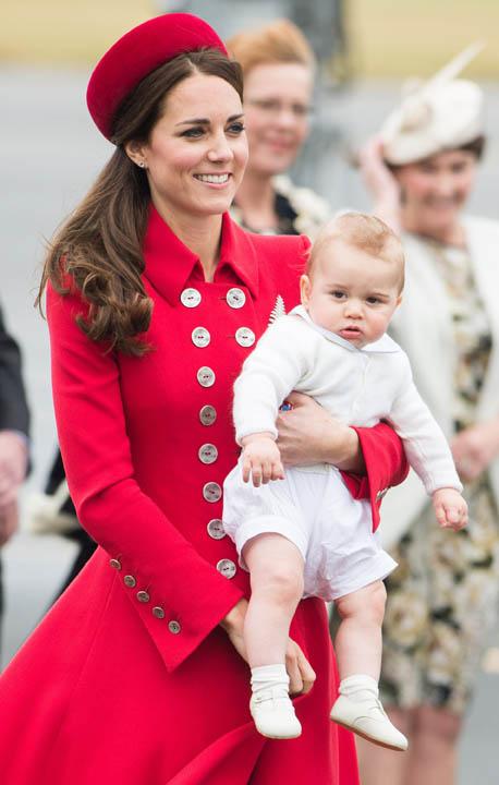 Kate en George by hul aankoms in Nieu-Seeland verlede week FOTO: Gallo Images / Getty Images