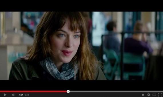 Dakota Johnson as Anastasia Steele in Fifty Shades of Grey