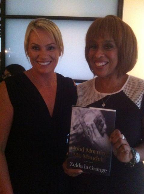 Zelda en Gayle King, Oprah Winfrey se beste vriendin en redakteur van die tydskrif O in Amerika FOTO: Twitter (@ZeldalaGrangeSA)